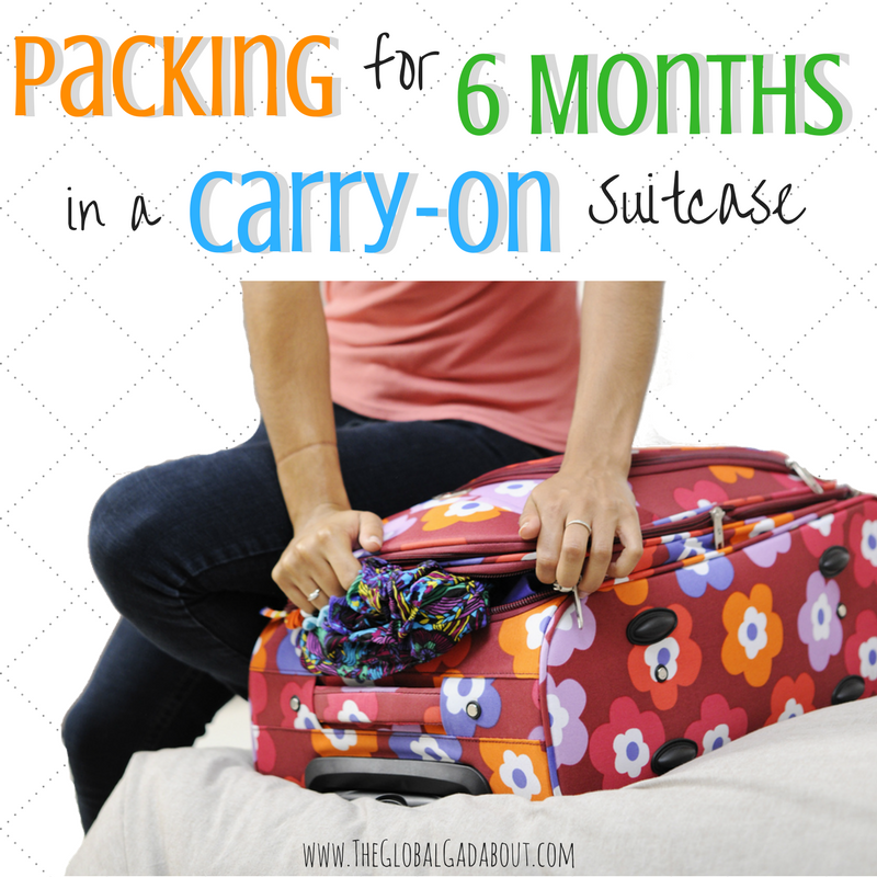 Packing for 6 Months in a Carry-On Suitcase