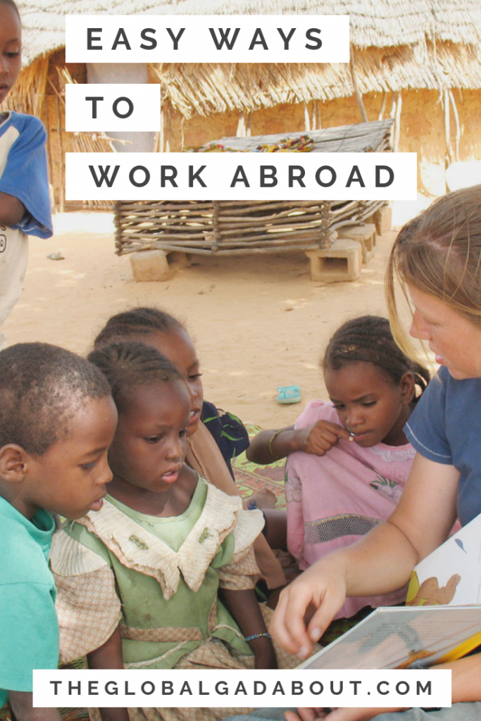 Looking for a way to travel for long periods of time and to earn some money along the way? Want to experience living and working in another culture? Check out this post for 5 ways to work abroad! #workabroad #travelblog #theglobalgadabout #traveltips #jobsabroad