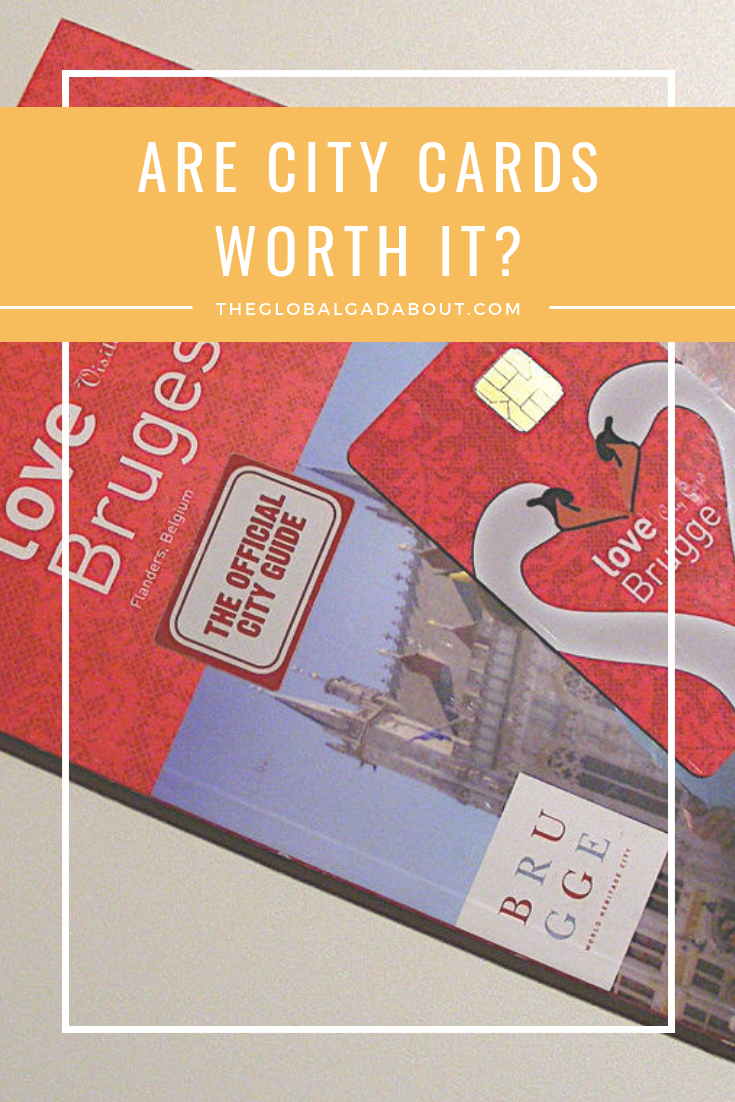 City cards - are they worth it? Click through to check out my pros/con list and ultimate conclusion. Plus, my sneaky pro tip for using city cards! #theglobalgadabout #travel #citycard #citypass #travelpass #traveltips #travelhacks #travelblog #travelblogger #travellife