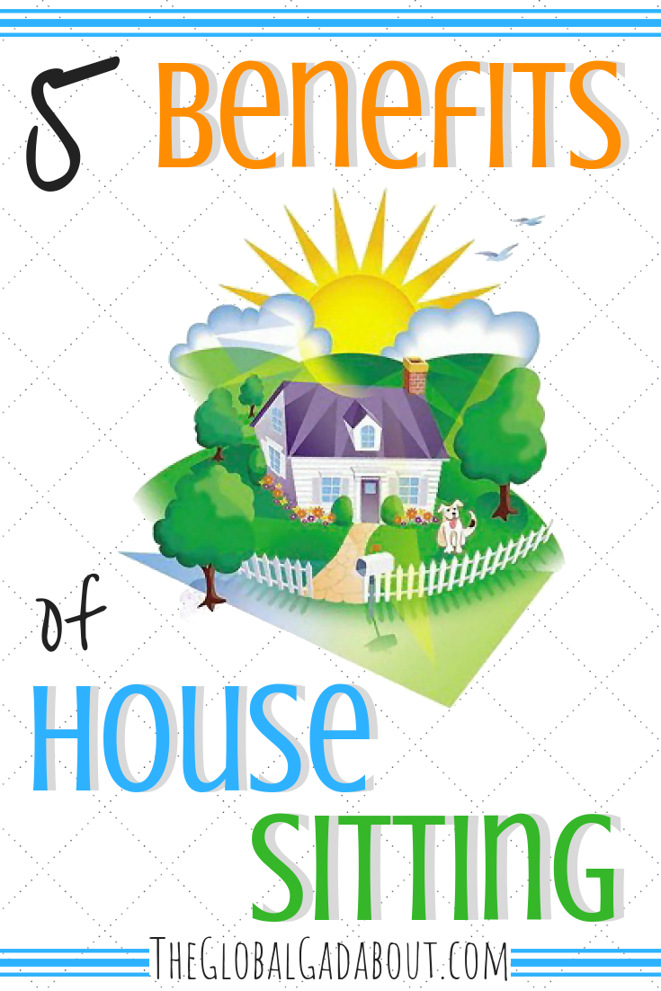 #HouseSitting is a super cool way to get #freeaccommodation while traveling! Take care of pets and get a FREE, private place to stay. Need more reasons to try it? Click through to read all about the benefits of house sitting. #housesit #freetravel #theglobalgadabout #travelblog #travelblogger #travelhack #travelhacking #petsitting