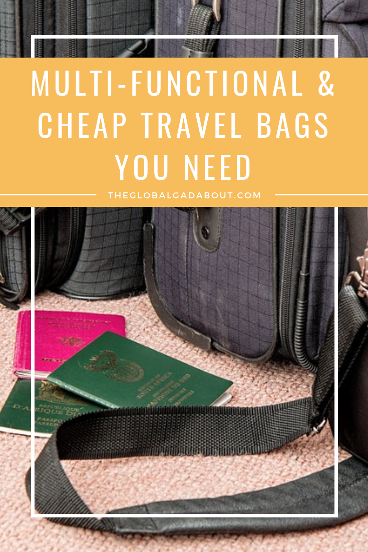 The right bag can make all the difference when traveling. Click through to discover my favorite #travelbags that are versatile and cheap! #theglobalgadabout #travelgear #suitcase #carryonbag #luggage #baggage #budgettravel