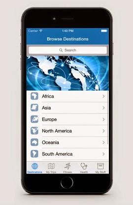 "A smartphone showing a search function to ""Browse Destinations""."