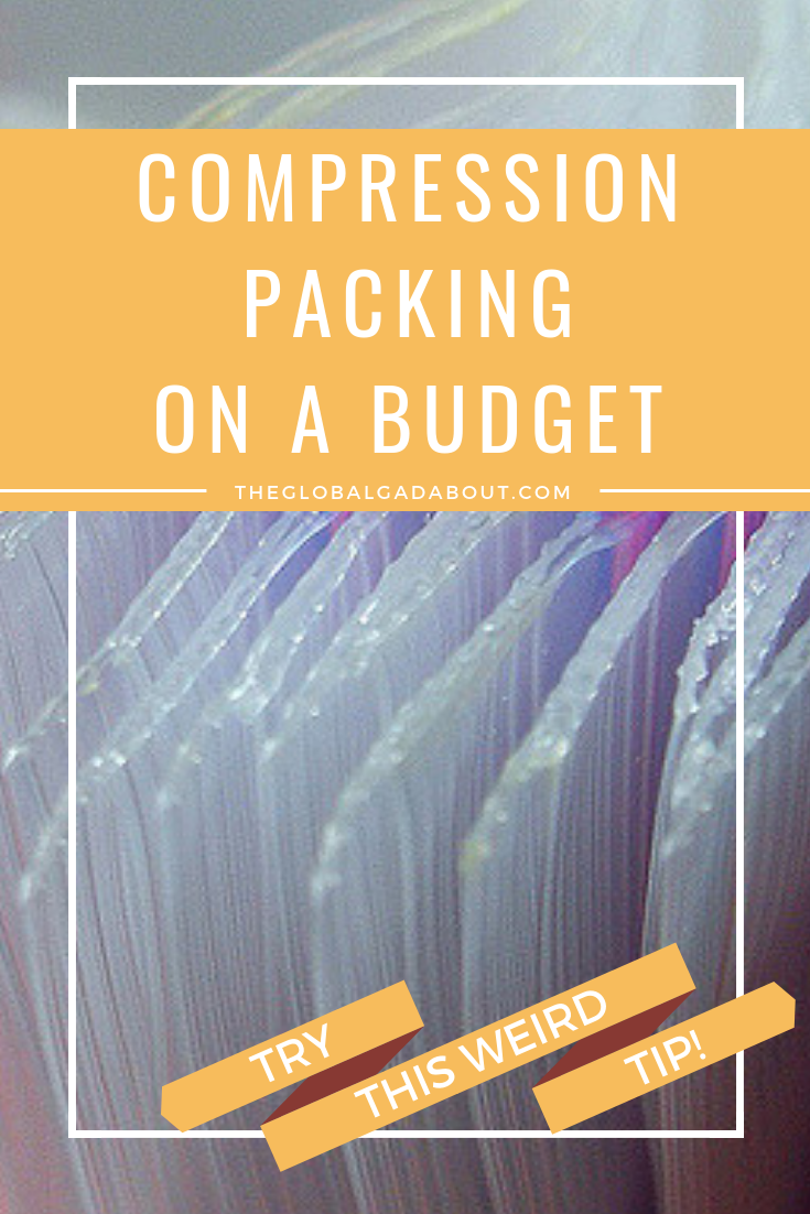 Packing in ziplock bags is a cheap and easy way to save space and stay organized. Click through to find out all about this cheap & easy packing tip! #theglobalgadabout #packingtips #compressionpacking #packinghacks