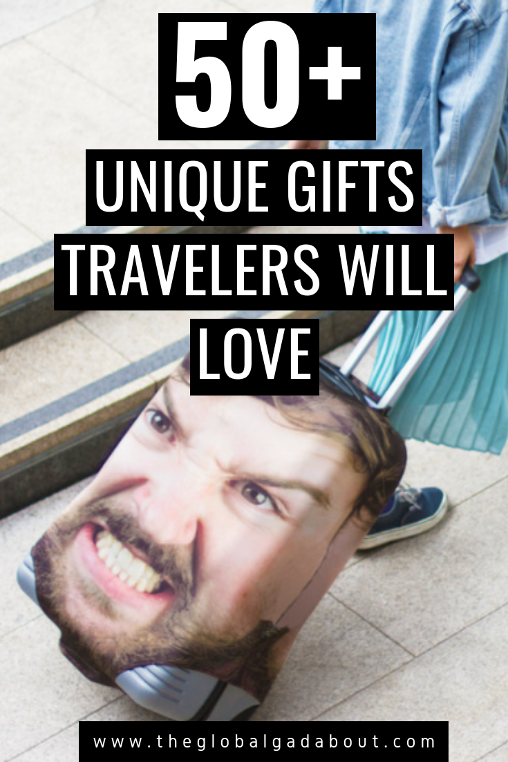 Looking for a unique gift idea travelers will love? Click through for 50+ fun and useful travel-related items you probably haven't thought of! #travelgifts #travelpresents #giftideas #presentideas #theglobalgadabout #travelgear #travelaccessories #budgetgiftideas #budgettravel #uniquegifts #unusualgifts