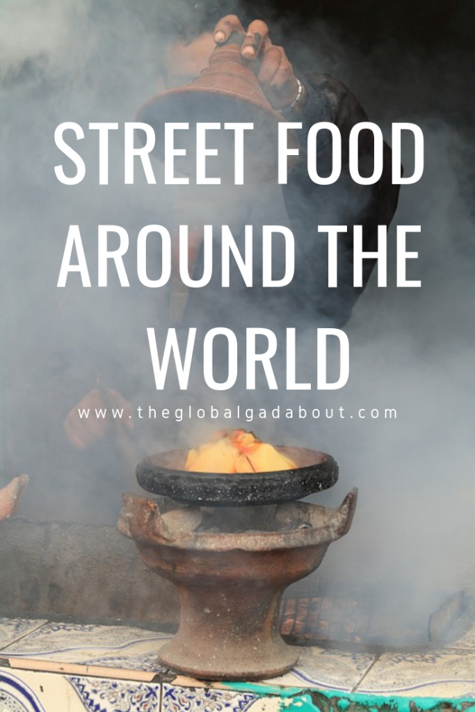 Click through to discover iconic and delicious street food around the world! What to eat on the street wherever you are traveling :-) #streetfood #foodie #foodietravel #budgettravel #theglobalgadabout #travelblog #travelblogger