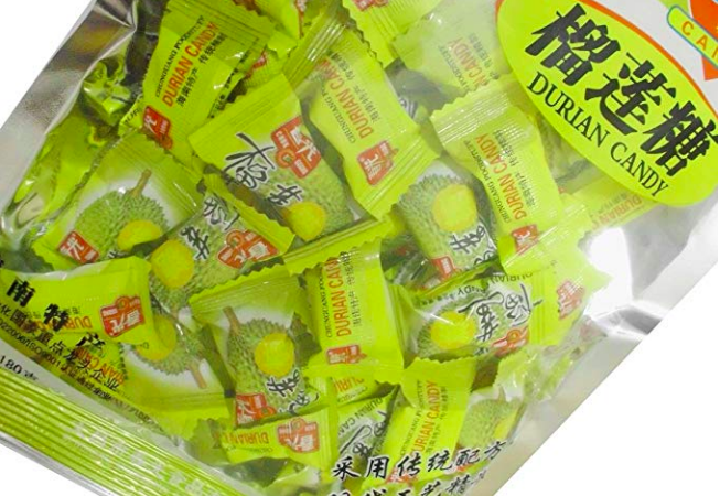 A bag of durian candy.